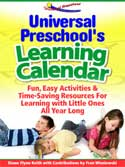 Universal Preschool's Learning Calendar